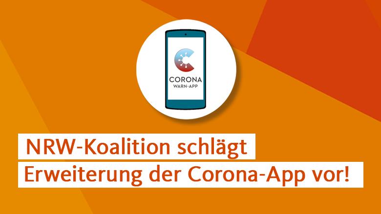 NRW-Koalition schlägt Erweiterung der Corona-App vor!