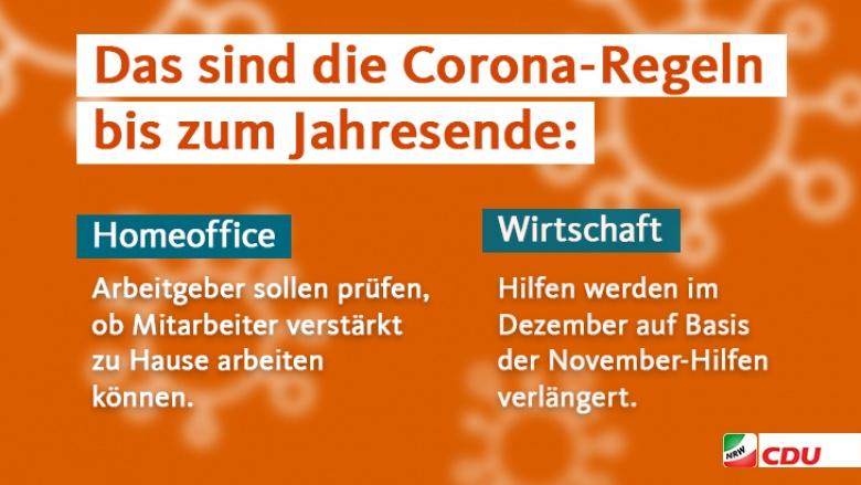 Corona-Maßnahmen bis zum Jahreswechseln III