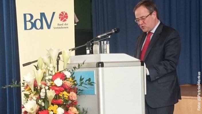 """Armin Laschet: """"Heimatvertriebene und Spätaussiedler haben wesentlich zum Aufbau Nordrhein-Westfalens beigetragen"""""""